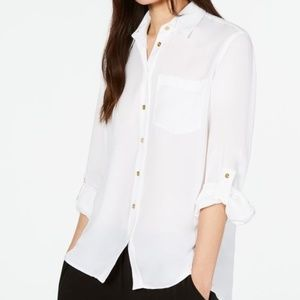 Michael Kors  soft white shirt